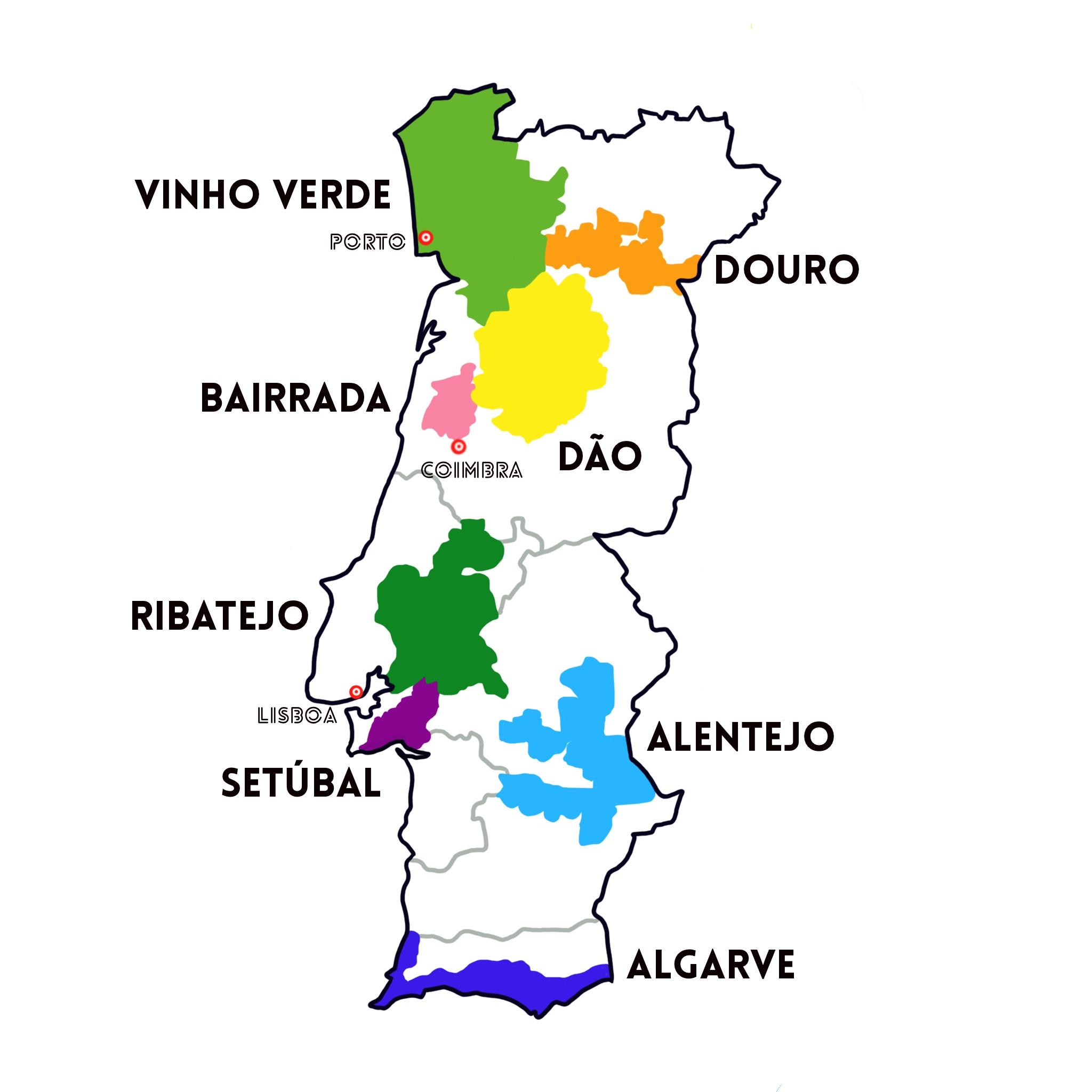ポルトガル ワイン 地図
